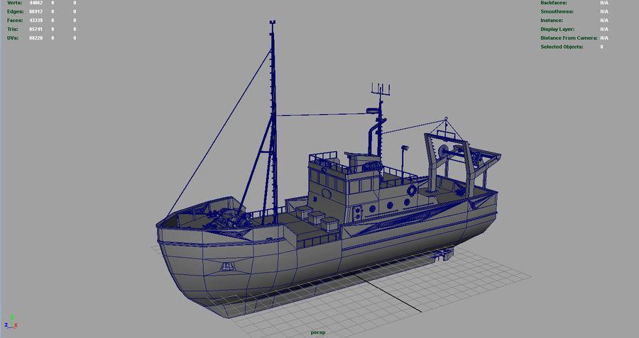 Fish Boat royalty-free 3d model - Preview no. 4