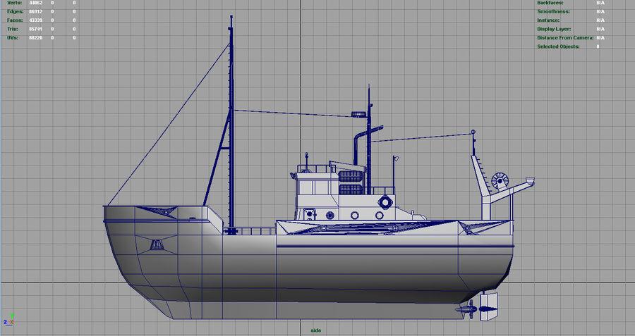 Fish Boat royalty-free 3d model - Preview no. 9