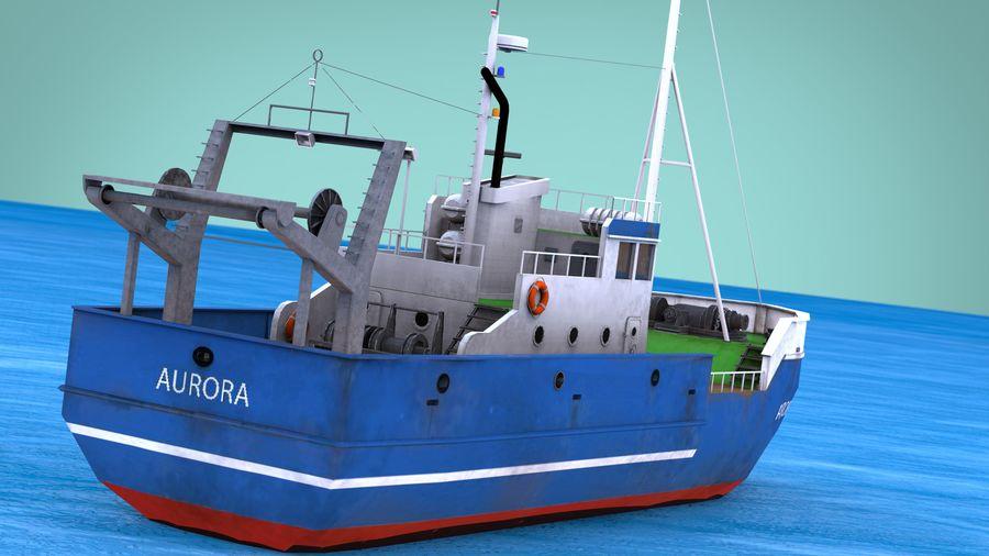 Fish Boat royalty-free 3d model - Preview no. 22