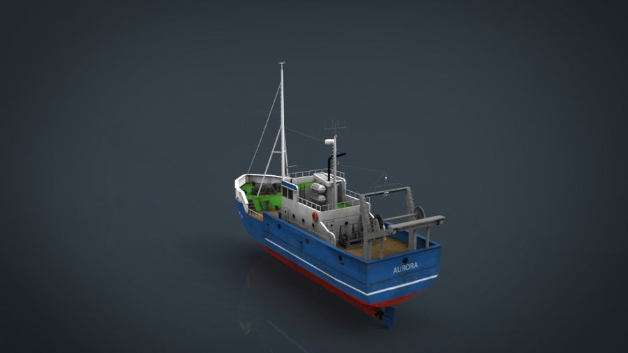 Fish Boat royalty-free 3d model - Preview no. 14