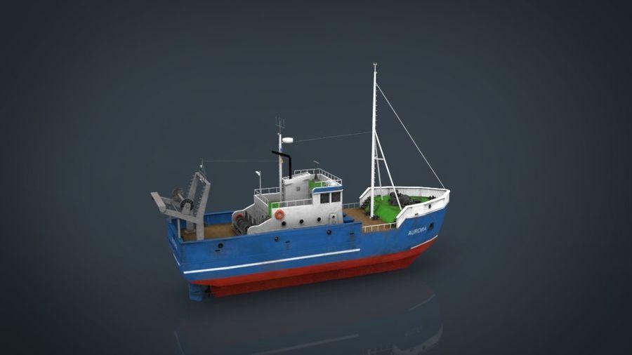 Fish Boat royalty-free 3d model - Preview no. 16
