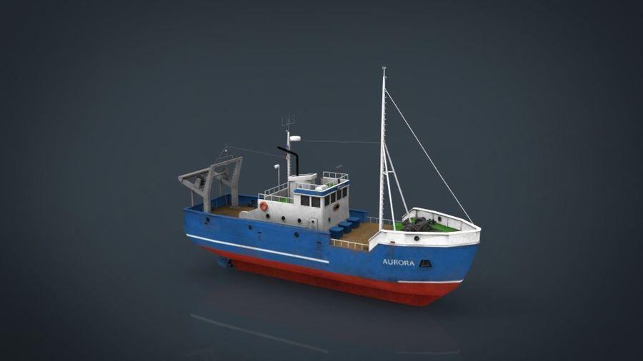 Fish Boat royalty-free 3d model - Preview no. 17