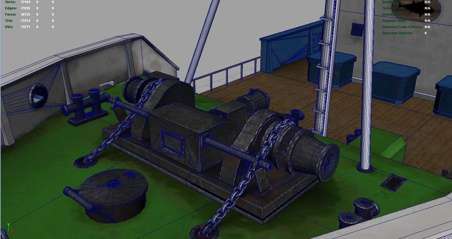 Fish Boat royalty-free 3d model - Preview no. 11