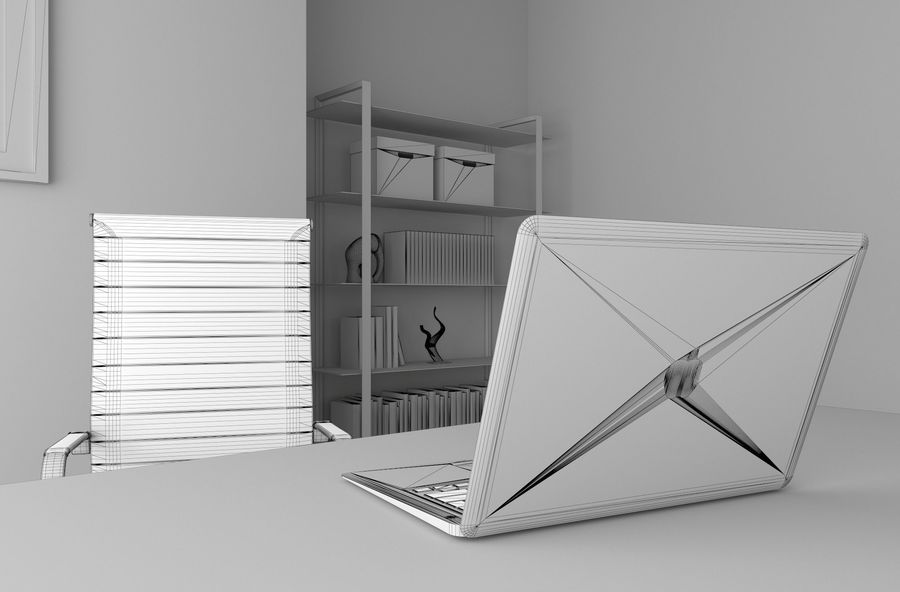 the boss office royalty-free 3d model - Preview no. 20