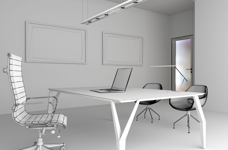 the boss office royalty-free 3d model - Preview no. 19