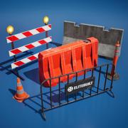 Barreiras de tráfego 3d model