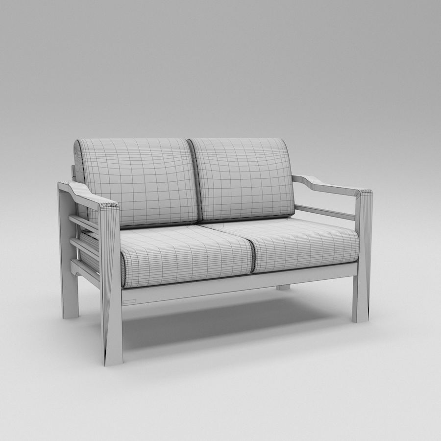 Simply comfortable sofa royalty-free 3d model - Preview no. 4