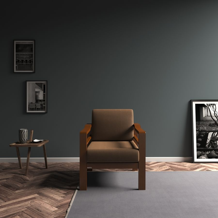 Simply comfortable sofa royalty-free 3d model - Preview no. 6
