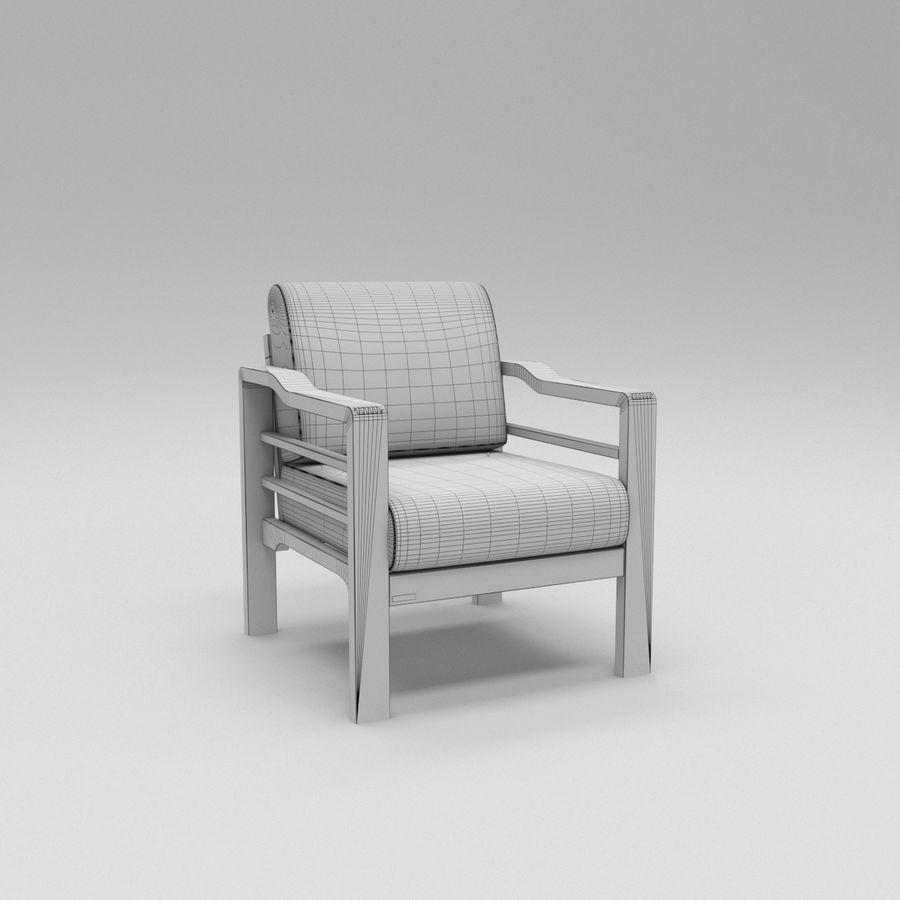 Simply comfortable sofa royalty-free 3d model - Preview no. 7