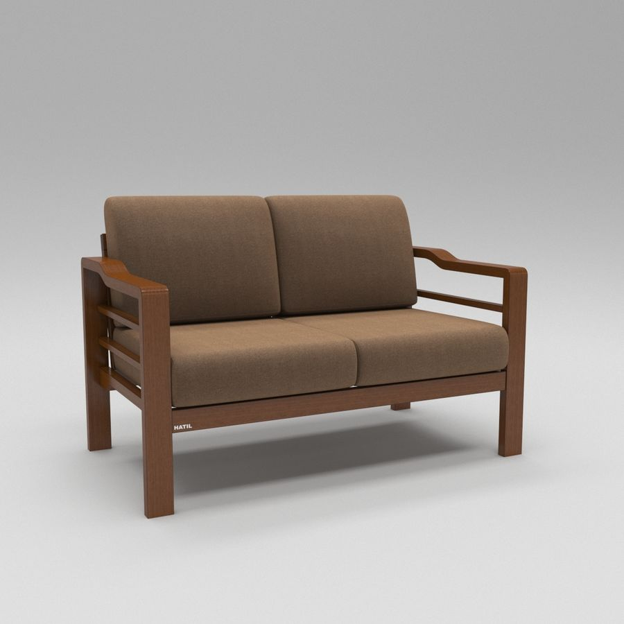 Simply comfortable sofa royalty-free 3d model - Preview no. 2