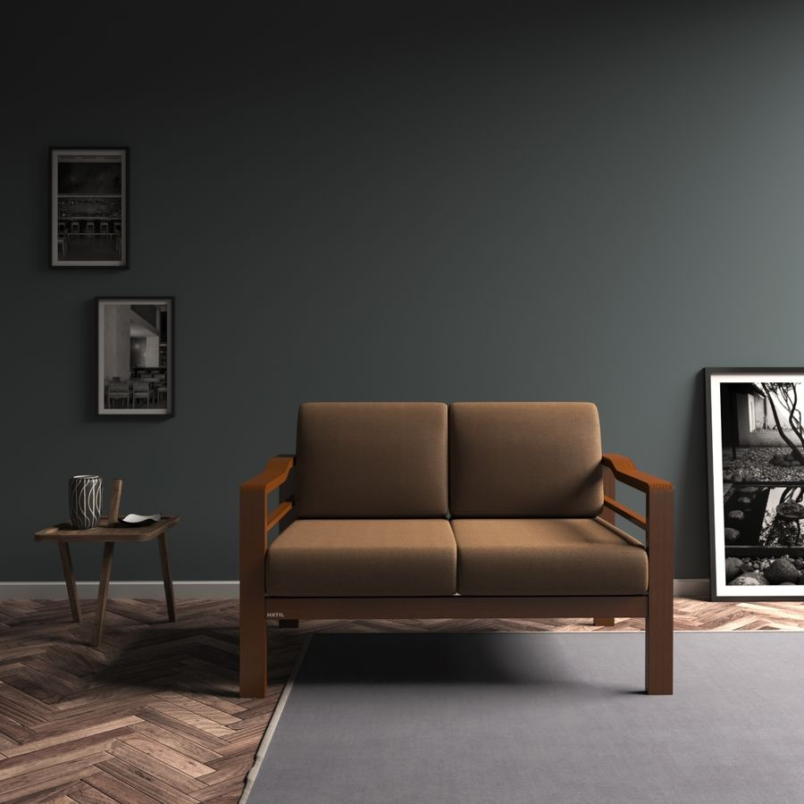 Simply comfortable sofa royalty-free 3d model - Preview no. 3