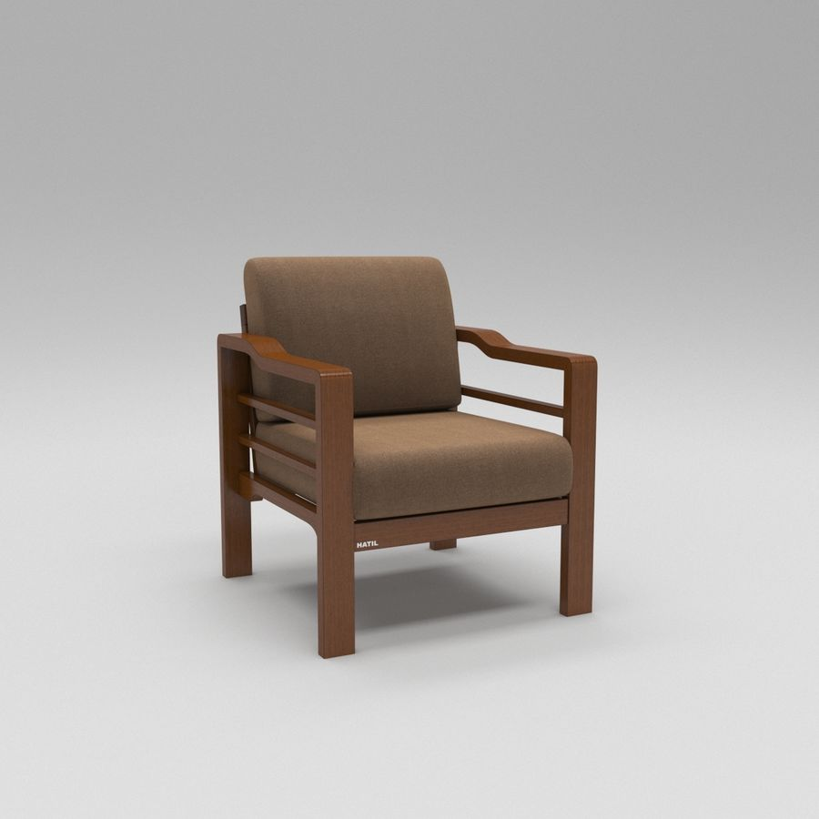 Simply comfortable sofa royalty-free 3d model - Preview no. 5