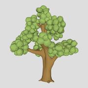 低ポリニレの木3Dモデル 3d model