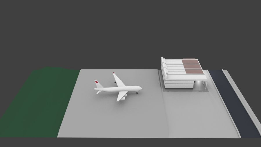 Aeropuerto royalty-free modelo 3d - Preview no. 1