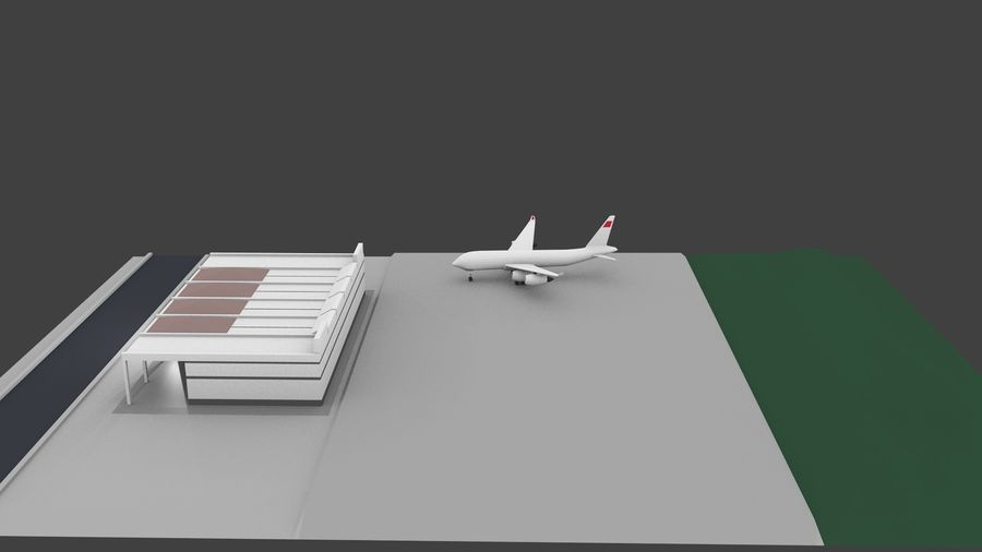 Aeropuerto royalty-free modelo 3d - Preview no. 5