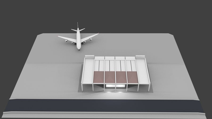 Aeropuerto royalty-free modelo 3d - Preview no. 3