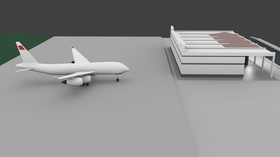 Aeropuerto royalty-free modelo 3d - Preview no. 2