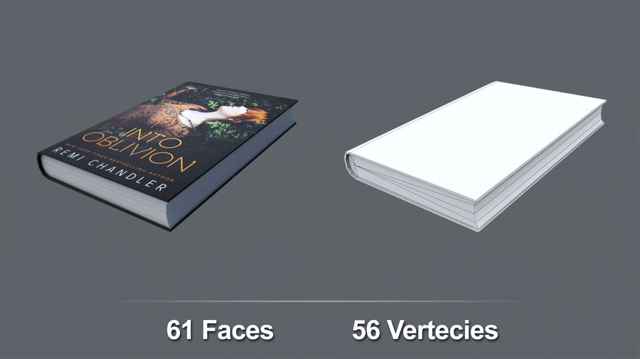 Books + Opened Books + Bookshelf royalty-free 3d model - Preview no. 8