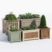 威望传统花坛 3d model