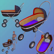 Baby Buggy 3D object 3d model