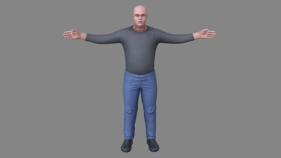 Young Man royalty-free 3d model - Preview no. 7