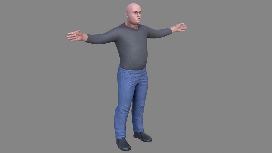 Young Man royalty-free 3d model - Preview no. 8