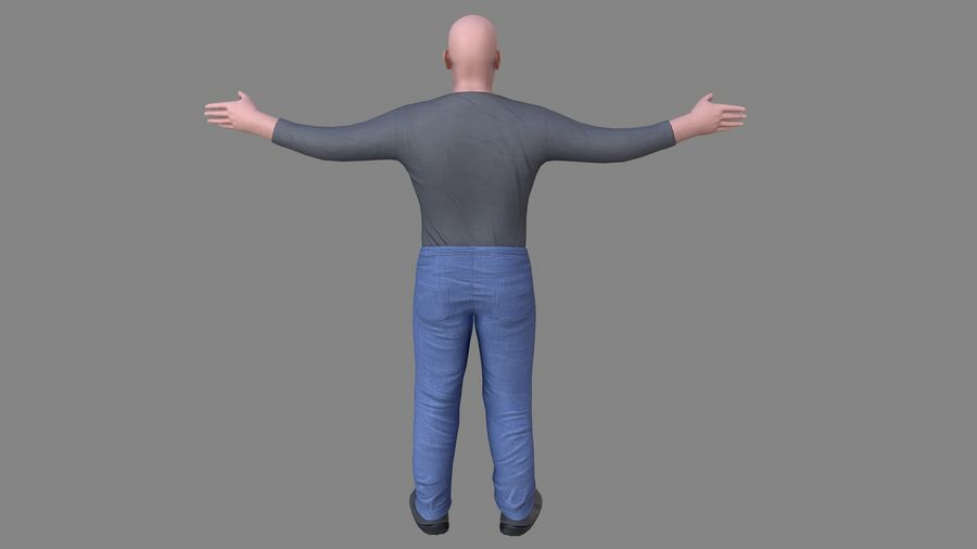 Young Man royalty-free 3d model - Preview no. 11