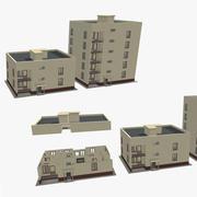 Prosty budynek 001 3d model