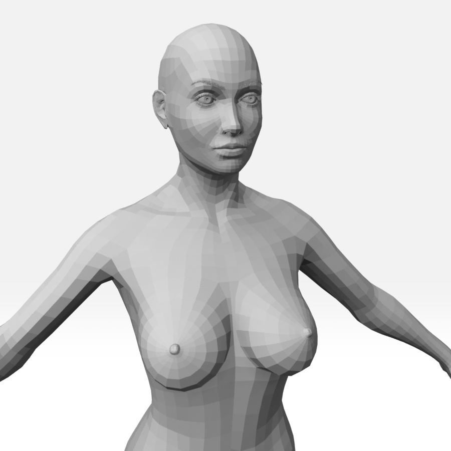 女Basemesh royalty-free 3d model - Preview no. 5