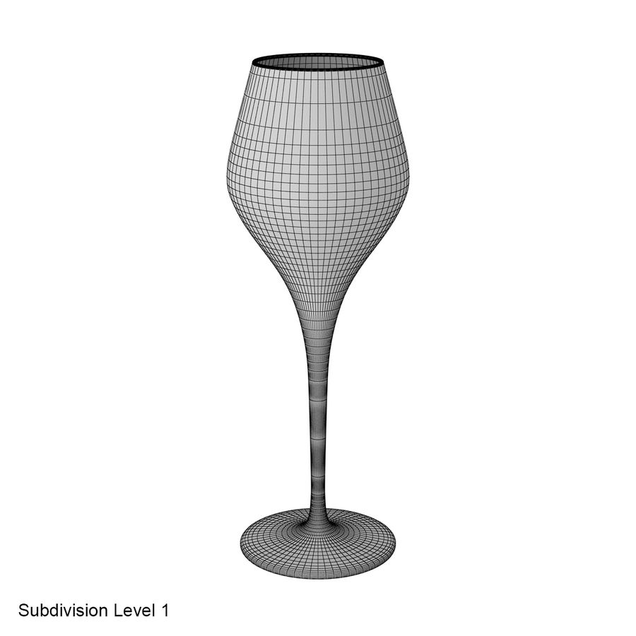 Glass of wine royalty-free 3d model - Preview no. 32