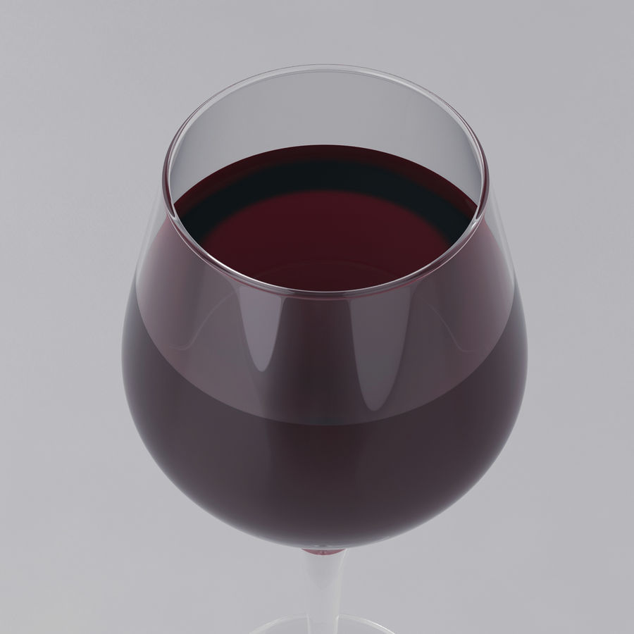 Glass of wine royalty-free 3d model - Preview no. 18