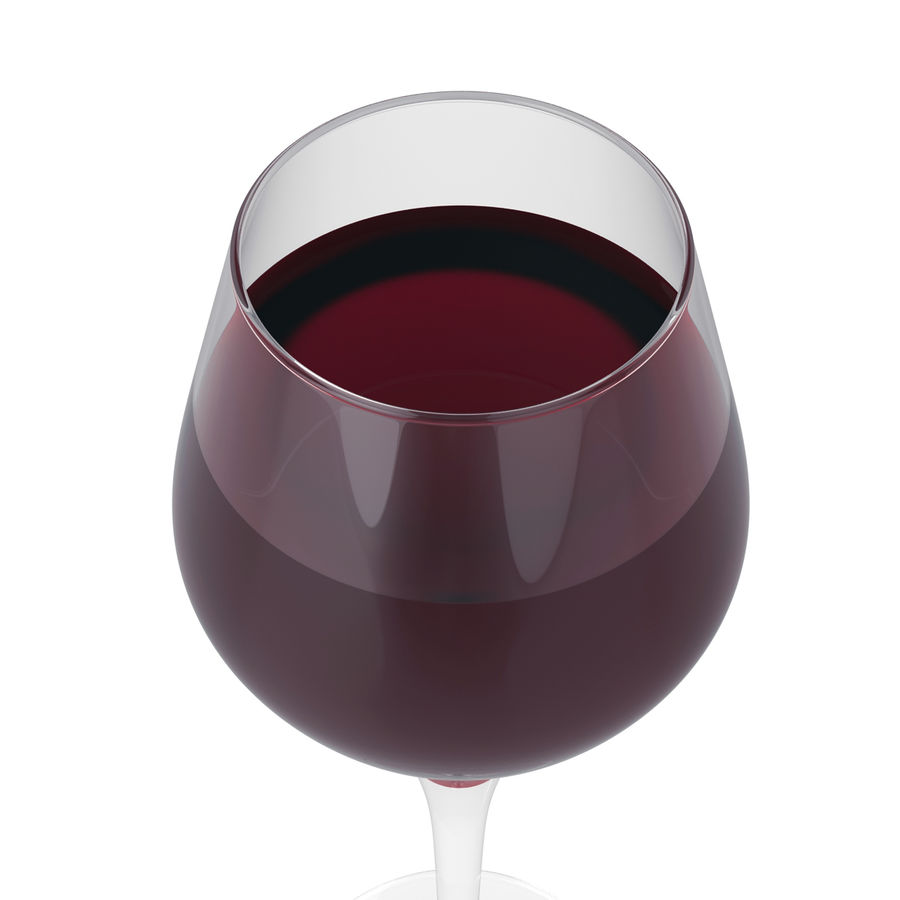 Glass of wine royalty-free 3d model - Preview no. 17