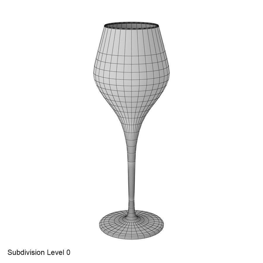 Glass of wine royalty-free 3d model - Preview no. 24