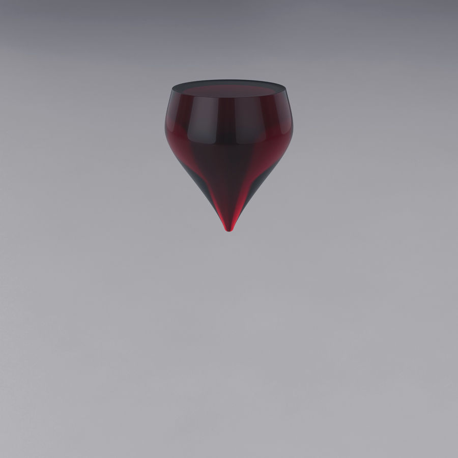 Glass of wine royalty-free 3d model - Preview no. 12