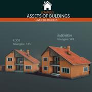 Pakiet budynków 3d model