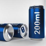 aluminium can 200ml 3d model