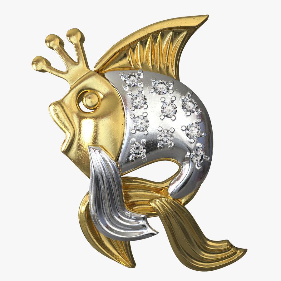 Золотая рыбка royalty-free 3d model - Preview no. 1