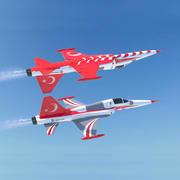 Myśliwiec turecki F-5 3d model