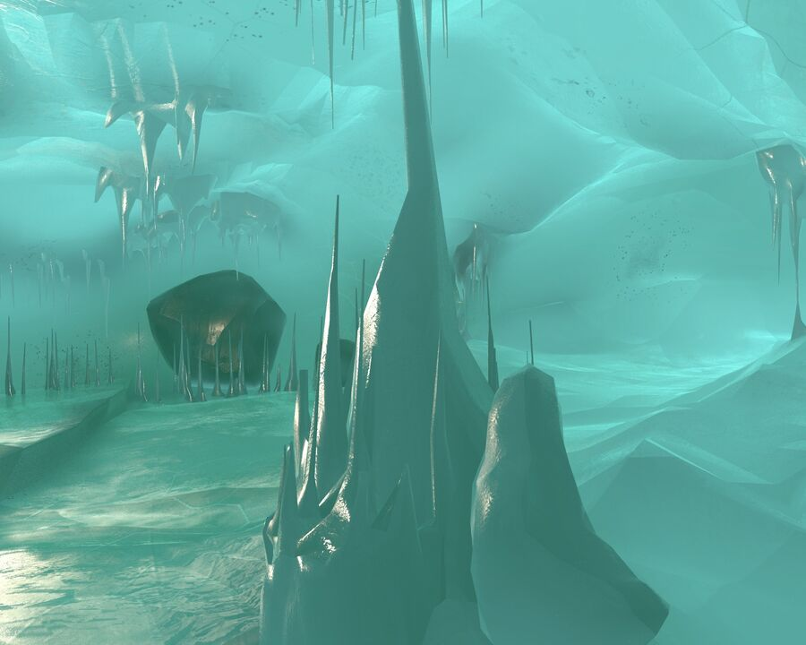 Ice Cave royalty-free 3d model - Preview no. 7