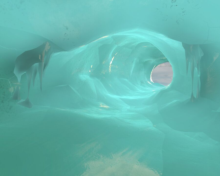 Ice Cave royalty-free 3d model - Preview no. 9