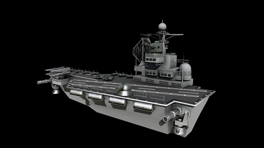 aircraft carrier battleship royalty-free 3d model - Preview no. 5