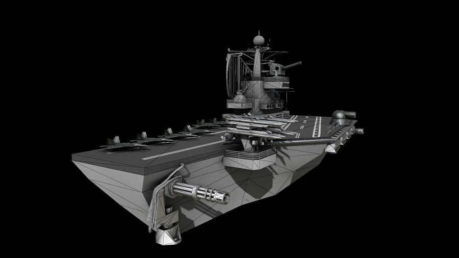 aircraft carrier battleship royalty-free 3d model - Preview no. 8