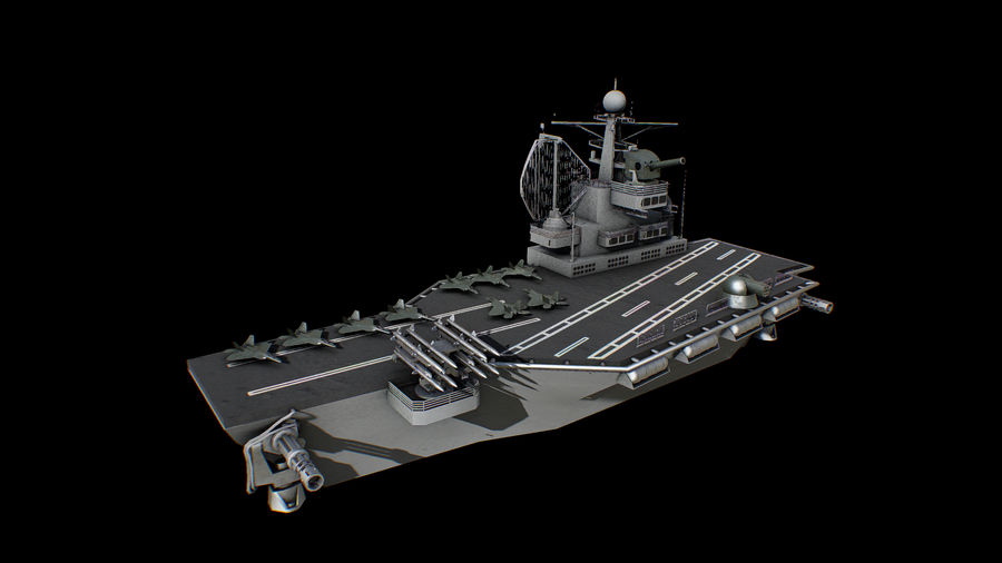 aircraft carrier battleship royalty-free 3d model - Preview no. 1