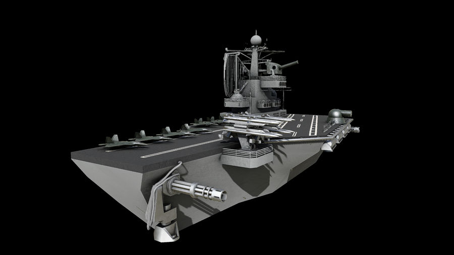 aircraft carrier battleship royalty-free 3d model - Preview no. 6