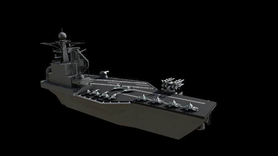 aircraft carrier battleship royalty-free 3d model - Preview no. 4