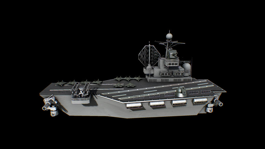 aircraft carrier battleship royalty-free 3d model - Preview no. 2