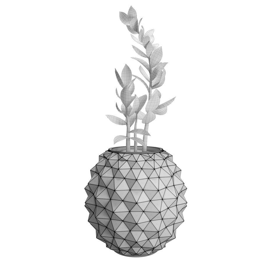 Bloempot met plant royalty-free 3d model - Preview no. 3