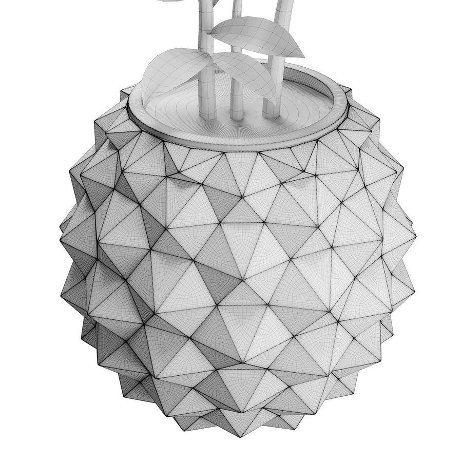 Bloempot met plant royalty-free 3d model - Preview no. 4