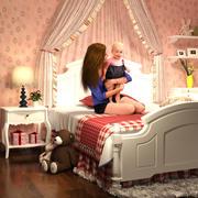 Küçük Prensesin Yatak Odası 3d model