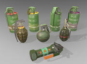 Grenade Collection 3d model